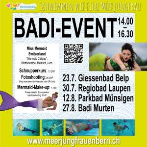 Badi-Events Meerjungfrauen Bern