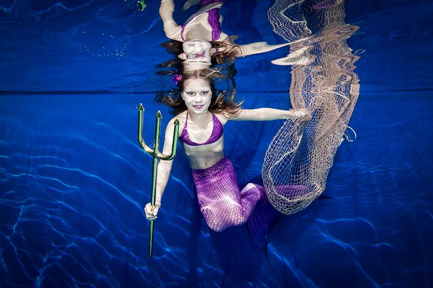 Unterwasser Meerjungfrau Shooting für Kinder